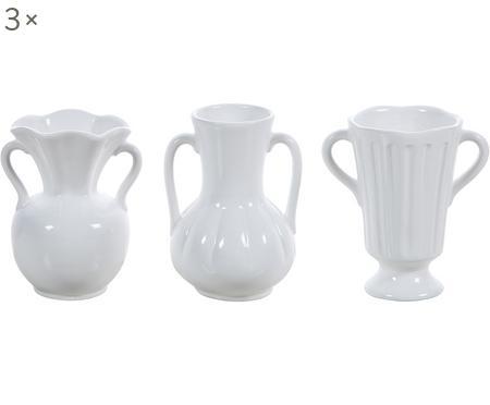 Keramik-Vasen-Set Mico in Weiß, 3-tlg.