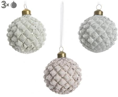 Set palline di Natale Crackle, 3 pz.