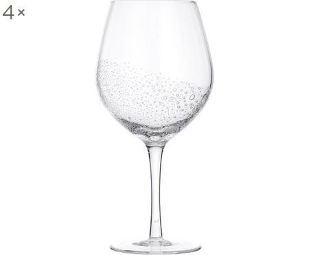 Verres à vin rouge soufflés bouche Bubble, 4pièces