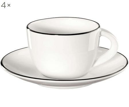 Espressokopjesset á table ligne noir, 8-delig