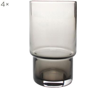 Wassergläser Secrets in Grau, 4 Stück