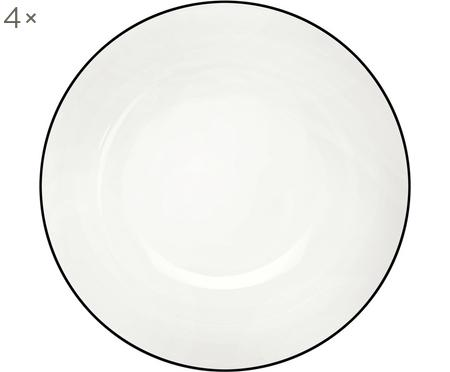 Assiettes à dessert À Table ligne noire, 4pièces
