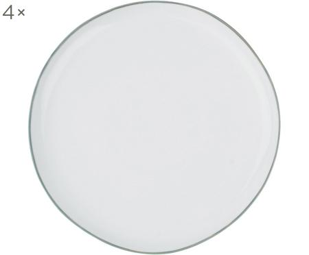 Frühstücksteller Abysse weiß/grau, 4 Stück