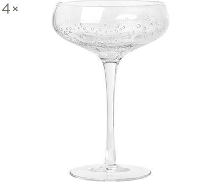 Mundgeblasene Champagnerschalen Bubble mit Lufteinschlüssen, 4er-Set