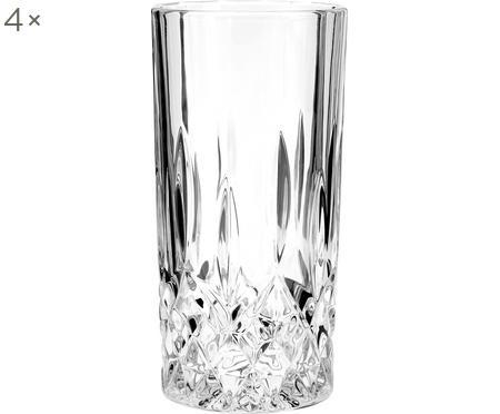 Bicchiere con rilievo in cristallo George 4 pz