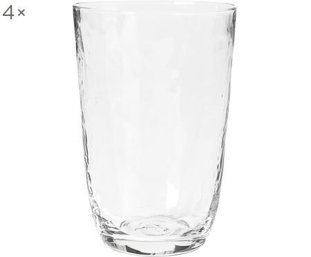 Vasos de vidrio soplado Hammered, 4uds.