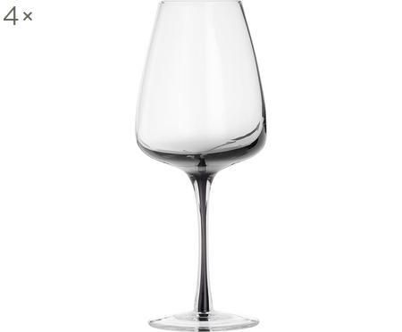 Verres à vin blanc soufflés bouche Smoke, 4pièces