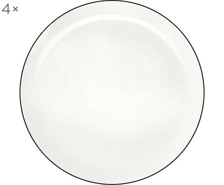 Dinerborden á table ligne noir, 4 stuks