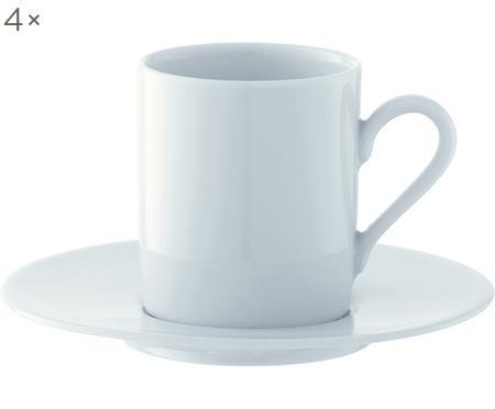 Espressotassen mit Untertassen Bianco, 4 Stück