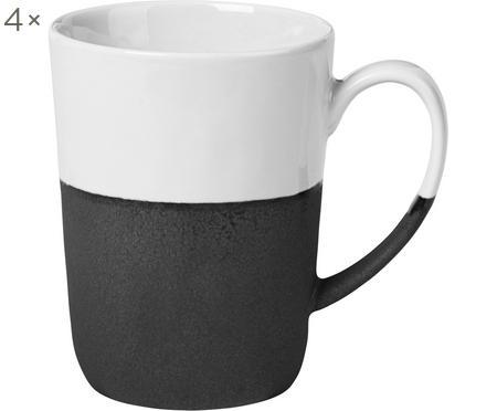 Handgemachte Tassen Esrum matt/glänzend, 4 Stück
