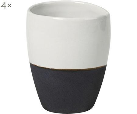Handgemachte Espressobecher Esrum matt/glänzend, 4 Stück