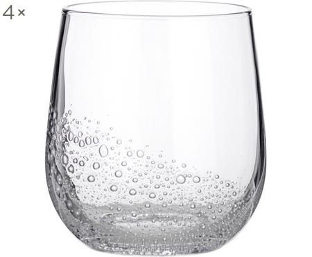 Vasos de vidrio soplado Bubble, 4uds.