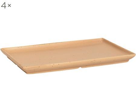 Steingut-Servierplatten Eli mit mattem Finish, 4 Stück