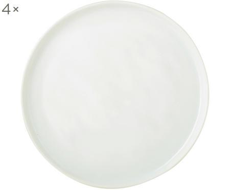Frühstücksteller Porcelino mit unebener Oberfläche, 4 Stück
