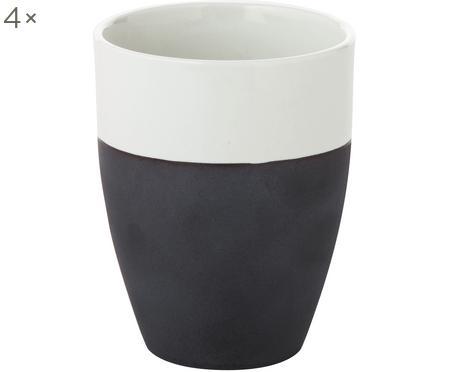 Mugs mats/brillants faits à la main Esrum, 4 pièces