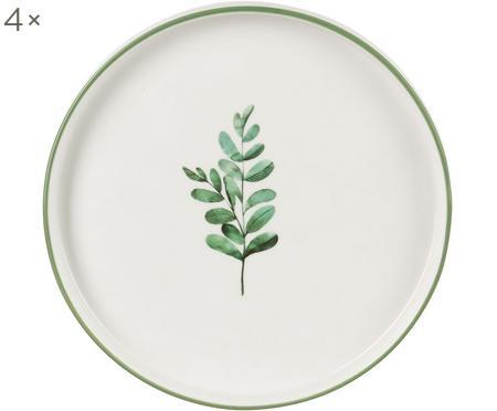 Assiettes à dessert eucalyptus, 4 pièces