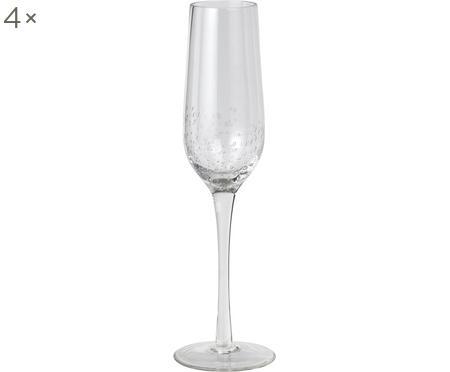 Flûtes à champagne soufflées bouche Bubble, 4pièces