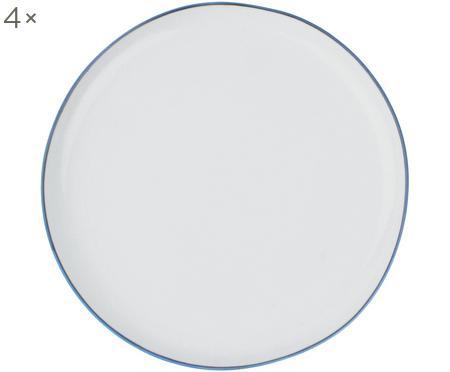 Frühstücksteller Abysse weiß/blau, 4 Stück