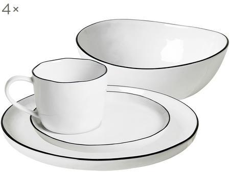 Service à petit déjeuner fait main Salt, 4personnes (16 élém.)