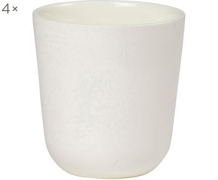 Becher Nudge in Weiß matt/glänzend, 4 Stück