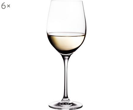 Copas de vino blanco de cristal Harmony, 6uds.