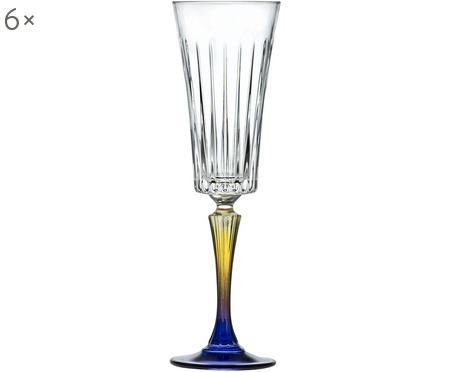 Flute champagne in cristallo  Gipsy 6 pz