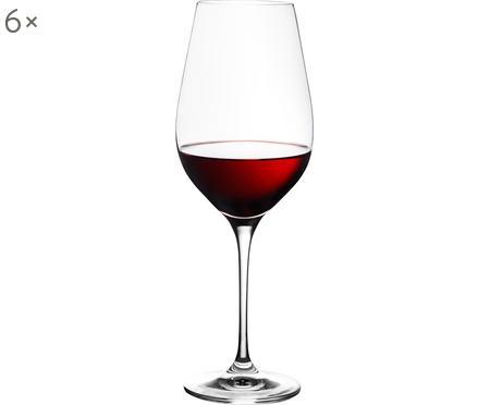Copas de vino tinto de cristal Harmony, 6uds.