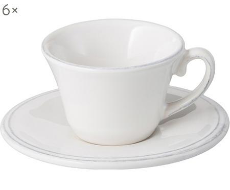 Espressotassen mit Untertassen Constance in Weiß, 6 Stück