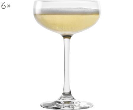 Kristall-Champagnerschalen Elements in Transparent, 6 Stück