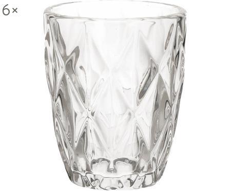 Wassergläser Diamond mit Relief, 6 Stück