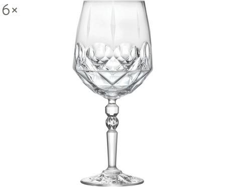 Kristall-Weißweingläser Calicia mit Relief, 6 Stück