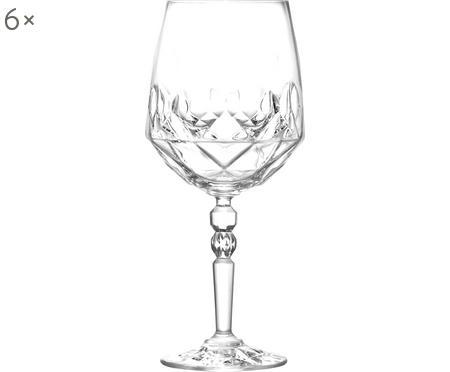Verres à vin blanc en cristal avec embossage Calicia, 6pièces