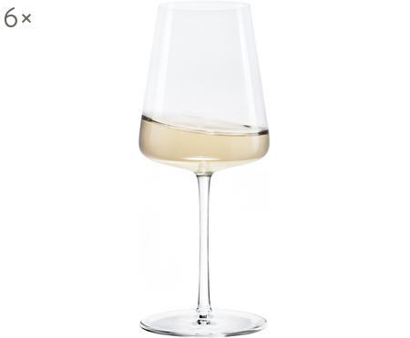 Kristall-Weißweingläser Power in Kegelform, 6 Stück
