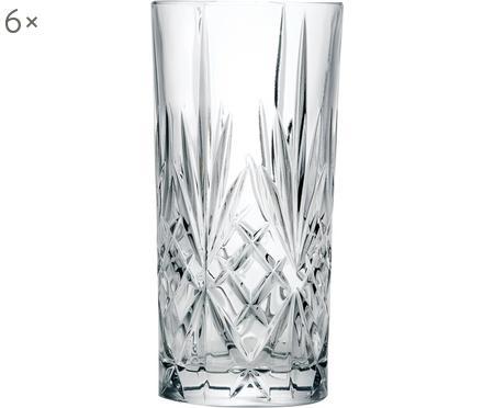 Verres à long drink en cristalà motifs embossésMelodia, 6pièces