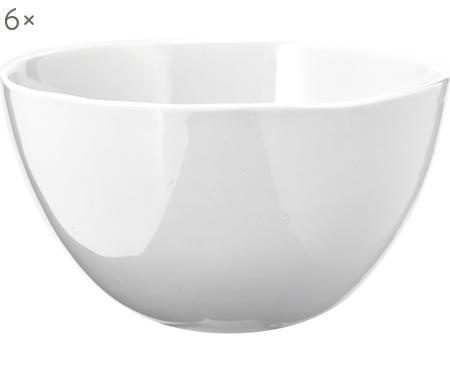 Schälchen Porcelino mit unebener Oberfläche, 6 Stück