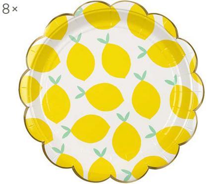 Platos de papel Lemon, 8uds.