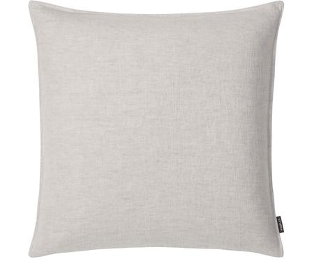 Federa arredo in lino lavato grigio argento Sven