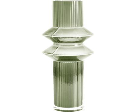Transparente Glas-Vase Rilla mit Grünschimmer