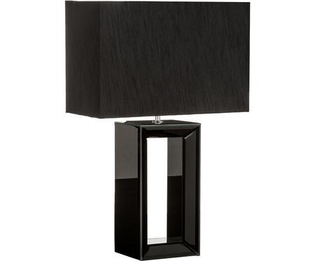 Große Tischleuchte Serafina aus lackiertem Spiegelglas