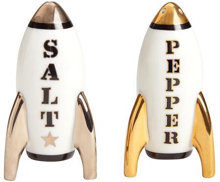 Designer Salz- und Pfefferstreuer Apollo,vergoldet, 2er-Set