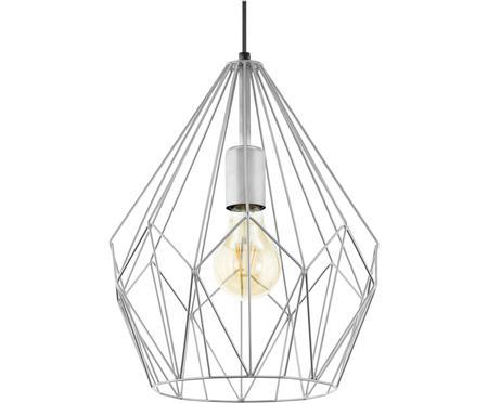 Scandi hanglamp Carlton in zilverkleur