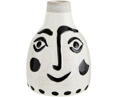 Vase Face mit Craquelé Glasur