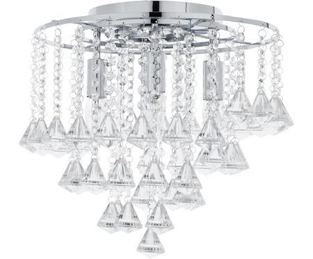 Deckenleuchte Dorchester mit Glaskristallen