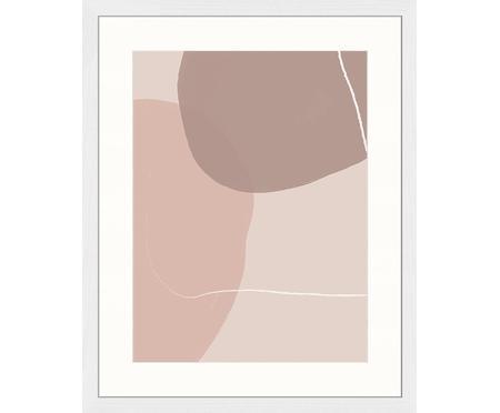 Gerahmter Digitaldruck Abstract Pink
