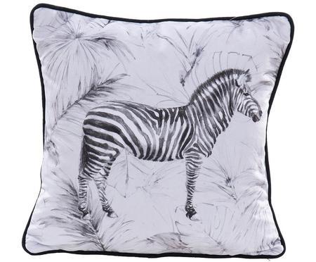 Poduszka z aksamitu z wypełnieniem Zebra