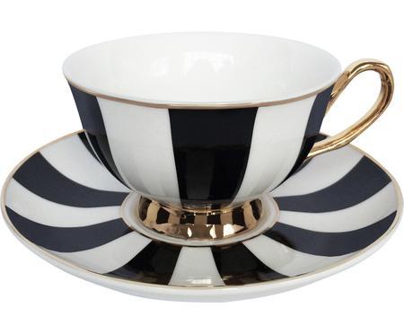 Teetasse mit Untertasse Stripy