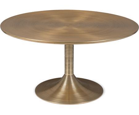 Tavolino da salotto rotondo color ottone Hypnotising