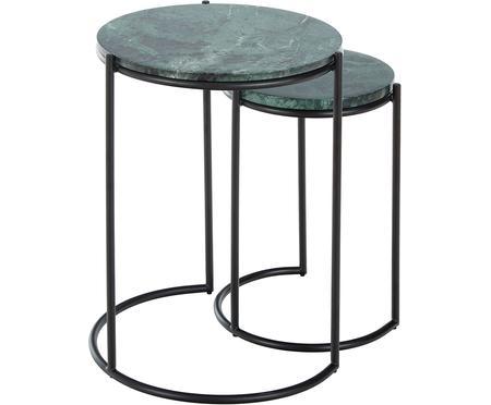 Set 2 tavolini in marmo Ella