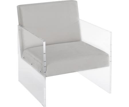 Fluwelen lounge fauteuil Ayden