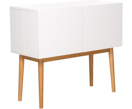 Kleine dressoir High on Wood in wit hoogglans